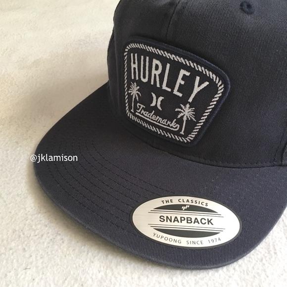 d951c0e27 HURLEY Adjustable Snap Back Surf Skate Cap Hat NWT